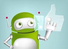 Green Robot. Cartoon Character Green Robot. Concept Illustration. Vector EPS 10 Royalty Free Stock Photo