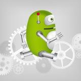 Green Robot. Cartoon Character Green Robot. Concept Illustration. Vector EPS 10 Stock Image