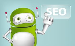 Green Robot Stock Photo
