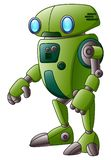 Green robot cartoon character isolated on white background. Illustration of Green robot cartoon character isolated on white background Stock Photos