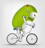 Green robot character Royalty Free Stock Images