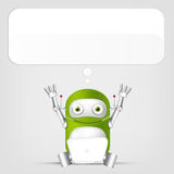 Green robot character Royalty Free Stock Photos