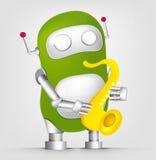 Green robot character Stock Image