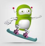 Green robot character Royalty Free Stock Image