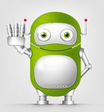 Green robot character Stock Photos