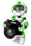 Green Robot a photographic shoot Stock Images
