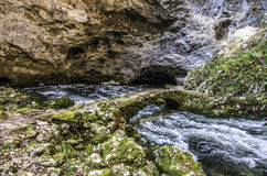 Green Rock Bridge Near River Royalty Free Stock Images