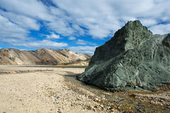 Green rock in Landmannalaugar area, Iceland Royalty Free Stock Photography