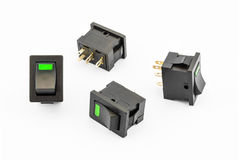 Green Rocker Switches with Build-in LED Stock Image
