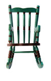 Green rocking chair Royalty Free Stock Photography