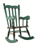 Green rocking chair Royalty Free Stock Photos