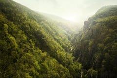 Green rocky mountais Royalty Free Stock Images
