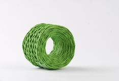 Green roll cords Royalty Free Stock Images