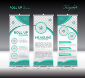 Green Roll Up Banner template vector illustration royalty free illustration