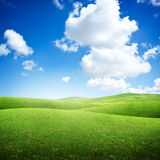Green Rolling Fields Stock Photos