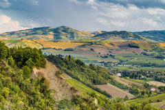 Green rolling hills Stock Image
