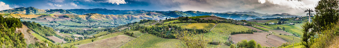 Green rolling hills Royalty Free Stock Photo