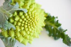 Green roman cauliflower detail Stock Photo