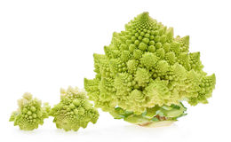 Green Romanesco Cauliflower (or Romanesco broccoli cabbage) Royalty Free Stock Photo