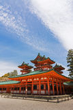 Green roof of Heian Jingu Shrine building. Royalty Free Stock Images