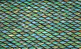 Green roof tiles. Of Buddhist temple Royalty Free Stock Photos