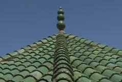 Green roof tiles Fez, Morocco Stock Photography