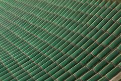 Green roof top tiles pattern Stock Images