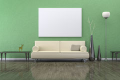 Green room with a sofa Stock Photo