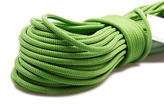 Green rope. Isolated on white Stock Photos