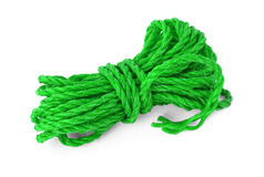 The green rope in the coil Stock Images