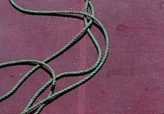 Green Rope Fishing Boat Deck Royalty Free Stock Image