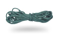 Green rope isolated on white Stock Image