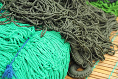 Green rope strap - for sale Stock Image