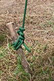 Green rope use in construction site Stock Photos