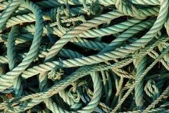 Green Ropes Stock Photo
