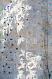 Green Ropes on Rock Climbing Wall Stock Photography
