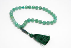 Green Rosary Beads, from gem Stock Images
