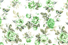 Green Rose Fabric background, Fragment of colorful retro tapestr Stock Images