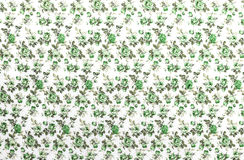 Green Rose Fabric background, Fragment of colorful retro tapestr Stock Photo