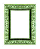 Green Rose Frame Isolated On White Background And Clipping Path Royalty Free Stock Photo