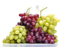Green and rose grapes Royalty Free Stock Photo