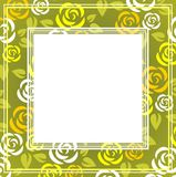 Green roses frame Royalty Free Stock Photography