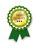 Green rosette with text best quality Royalty Free Stock Photo