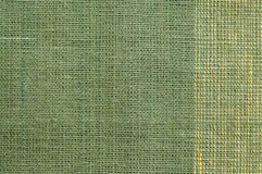 Green rough Fabric Texture Royalty Free Stock Photography