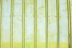 Green rough painted metal wall Stock Photo