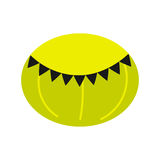 Green round beanbag chair isolated icon. Royalty Free Stock Photography