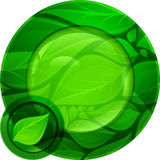 Green round button Stock Image