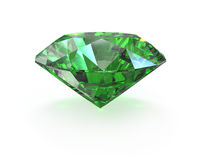 Green round cut emerald vector illustration