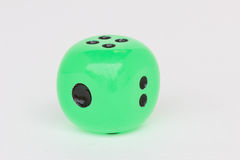 Green round dice Royalty Free Stock Image