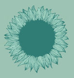 Green round flower text banner Stock Images